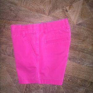 JCREW Chino Bright Pink Shorts. Size: 2